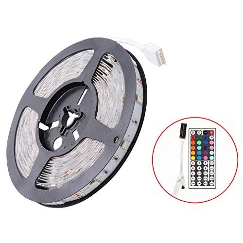 Auralum® 5 Meter 150 LEDs 5050 SMD RGB LED Stripe Set ink IR Kabelose Fernbedienung