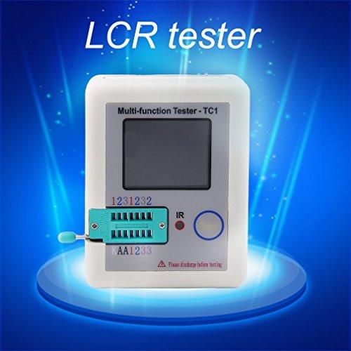 Tester-transistor-TFT-retroilluminazione-TFT-multi-funzionale-LCR-TC1-Colore-bianco