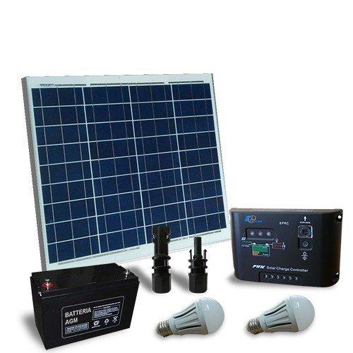 puntoenergia Italia–Solar Beleuchtungsset LED 50W 12V für Innen Photovoltaik–kil-50