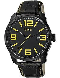 Esprit Herren-Armbanduhr Animate Yellow Analog Quarz Leder ES103842004