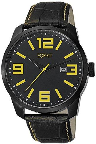 ESPRIT Men's Watch animate Yellow Analog Quartz Leather ES103842004