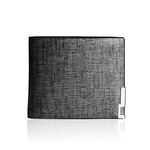 iVotre Bifold Brieftasche Ultra Thin Kurze Retro - Stil Pu - Leder, Multi - Abteilungen Für Kreditkarten, Bild - Inhaber Für Männer Geschenke - Silverhorizontal (Brieftasche Für Männer-magnet)