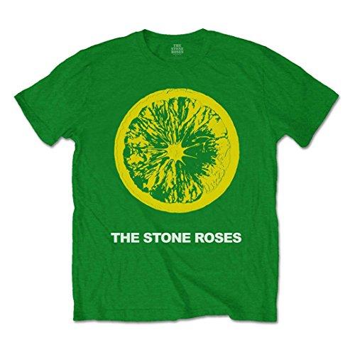 Stone Roses Official T Shirt The Classic Green Logo Lemon