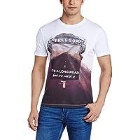 Wrangler Men's T-Shirt (8907222664954_W1504661912Z_X-Large_White)