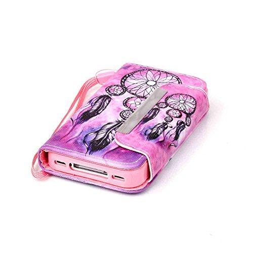 Owbb Filp PU Housse Coque Étui avec magnetic buckle protection pour iPhone 4 / 4S / 4G Smartphone - horse Color 10