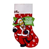 Kurt Adler SP0142 Homer Simpson Printed Applique Stocking Time For a Little Holiday Cheer, 19-Inch