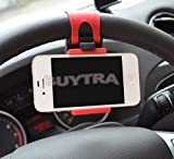 leading-star CONVENIENT Car Steering Wheel Mount Holder Rubber Band For iPhone iPod Smart MP4 Phone GPS