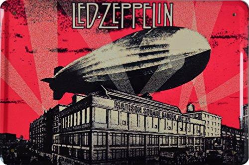 Wandtattoo Zeppelin Led (Retro Wandschild Designer Schild Led Zeppelin Madison Square Garden July 1973 Deko 20x30cm Nostalgie Metal Sign XSONS39WA)