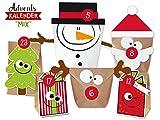 KuschelICH DIY Adventskalender Set Mix | Zum Basteln & Befüllen | Weihnachtskalender Selber Machen Ohne Schere | Alle Teile gestanzt | Neuauflage 2017 | Wiederverwendbar