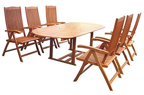 KMH®, Gartensitzgruppe aus wetterfestem FSC-zertifiziertem Eukalyptusholz / Sitzgruppe (#101160)