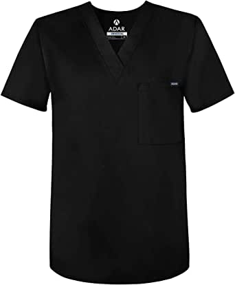 Adar Universal Unisex Scrubs - V Neck Tunic Scrub Top