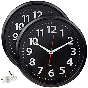 Umi Essentials 2 Pack Wall Clocks Battery Operated Quartz