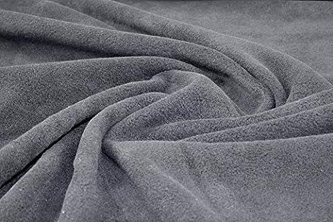Tissu polaire anti-peluches, doux et chaud pour vêtements de bébé, lit pour animaux, Hobby de couture, peluche, châle, écharpe ,bonnet Matière Couverture– Gris -5 longueurs, gris, 1 m