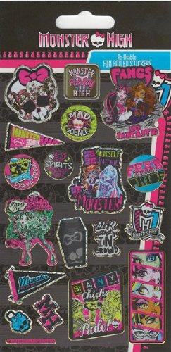 Monster High Fun Foiled Re-Aufkleber Verwendbar Streifen