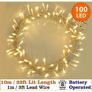 Fairy Lights 100 Warm White Christmas Tree Lights Indoor LED ...
