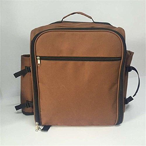 Outdoor-Picknick-Tasche Schultern Oxford Große Kapazität Ein Isoliertes Eisbeutel Camping-Pakete Paket