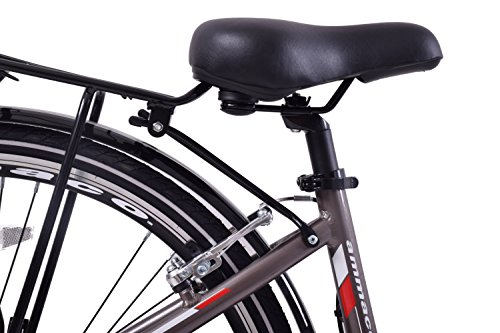 "51PrqFMBUrL - Ammaco Traveller 700c Mens Hybrid Bike Front Suspension Alloy 19"" Frame Grey 21 Speed"