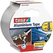 Tesa 56223-00000-01 - Cinta de reparación de aluminio, 10 m x 50 mm, color plata