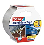 tesa Aluminium Tape / Selbstklebendes Aluminiumband für Reparaturen von metallischen Oberflächen / 100cm x 48mm
