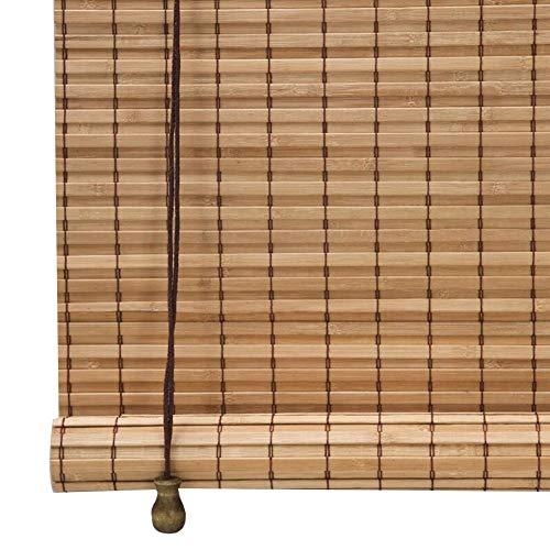 CHAXIA Bambus Rollo Bambusrollo Draussen Feuchtigkeitsfest Schimmelbeweis Balkon Abgeschnitten Tee Raum Pavillon Aufzüge Vorhang, 3 Farben, Multi-Größe, Anpassbar (Farbe : A, größe : 150X300cm)