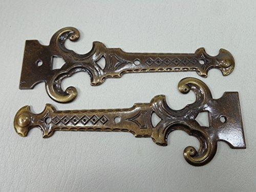 2 Stk Scheinbänder Zierscharniere Bänder Scharniere. Antik bronziert 145 mm