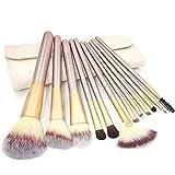 Kentop Pinceaux Maquillage Professionnel 12PCS pour Eyeliner, Fard à paupières, Sourcils, Apprêt
