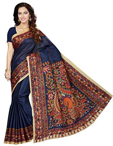 Ishin Bhagalpuri Art Silk PuRRle Printed Party Wear Wedding Wear Casual Wear...