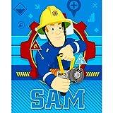 Feuerwehrmann Sam Kinder Fleecedecke, Art. 0974, Größe 150 x 120 cm, Original Lizenzware
