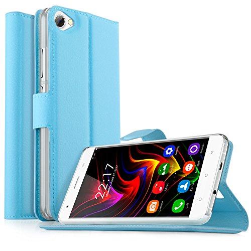 OUKITEL C5 / OUKITEL C5 Pro Hülle, KuGi OUKITEL C5 / OUKITEL C5 Pro Premium PU Leder Einschließlich rücksichtsvoller Gestaltung des magnetischen Teils Hülle Hülle Handyhülle für OUKITEL C5 / OUKITEL C5 Pro Smartphone (Weiß)