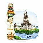 Pura Motorräder Bratan, Bali, Indonesien IDN, Asien-3D World Travel Harz handgefertigt Kühlschrank Magnet-Spielzeug, Souvenir, Memento, Geschenk, Sammlerstück, Dekor