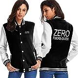 Photo de Zero Fucks Given Baseball Uniform Jacket Unisexe Hoodie Fashion Sweater Coat par nyangqudubei