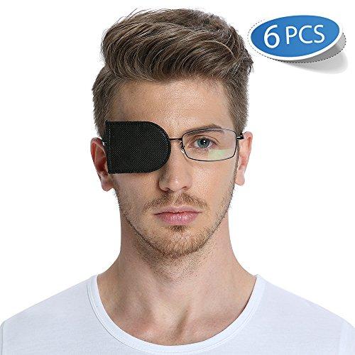6 unidades de parche de ojo para gafas para tratar ojo vago, ambliopía, estrabismo, en color negro, de FCAROLYN