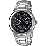Casio Men's Edifice Multi Function Black Dial Stainless Steel Band Watch [EF-305D-1A]