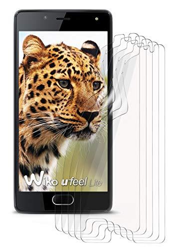 moex 5X Wiko U Feel Lite | Schutzfolie Klar Bildschirm Schutz [Crystal-Clear] Screen Protector Display Handy-Folie Dünn Bildschirmschutz-Folie für Wiko U Feel Lite Bildschirmfolie