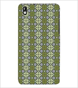 PrintDhaba Pattern D-5257 Back Case Cover for HTC DESIRE 816 (Multi-Coloured)