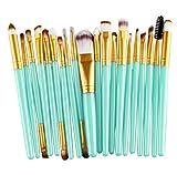 Longra 20 Stück / Set Make up Sets Werkzeuge Make-up Toilettenartikel Ausrüstung Wolle Make up Pinsel Set (Grün B)