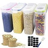 Outuxed Set 4 Vorratsdosen Streudosen Schüttdosen für streufähige Lebensmittel Frischhaltedosen