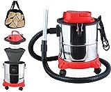 KAMINER - Aspirateur à Cendres avec Filtre de 20 L - 1200 W - Cheminée - Filtre HEPA - Double Filtre - # 1162