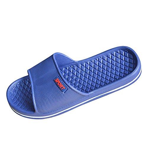 Unisex Liebhaber Bunt Gummi Badeschlappen im pool Badelatschen Pantoffeln ikea Strandschuhe Damen Herren Badeschuh Dark Blau