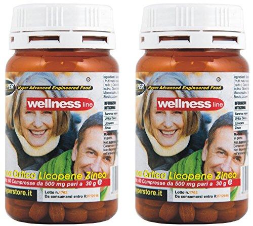 2 Box Prosta Well 60 comprimés Supplément pour la prostate de prévention (hypertrophie de la prostate). Avec Saw Palmetto (Serenoa repens), Ortie, le lycopène, remède naturel pour la santé et pour lutter contre l'inflammation. Pour un total de 120 comprimés Expédition rapide pour toute l'Europe
