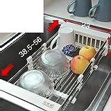 Rosseae Edelstahl Spüle platziert Schüssel Rack Waschbecken Becherhalter Küche Edelstahl Regal Lagerung in der Küche-A (Farbe : B)