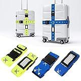 Mture Cinturino Bagagli, viaggio cinghie bagagli imballaggio Cinghia Regolabile per Bagaglio per cintura bagagli antiscivolo -4 Packs