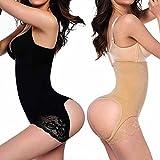 FLORATA donne Butt Lifter vita pantaloni Shaper pancia controllo culotte intima, Y558-b-3xl-uk-de-1, nero