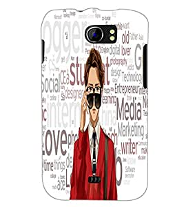 PrintDhaba Typography D-3943 Back Case Cover for MICROMAX A110Q CANVAS 2 PLUS (Multi-Coloured)