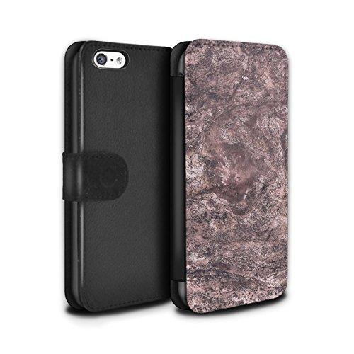 Stuff4 Coque/Etui/Housse Cuir PU Case/Cover pour Apple iPhone 5C / Bijoux Vintage Design / Mode Rose Collection Marbre Sombre