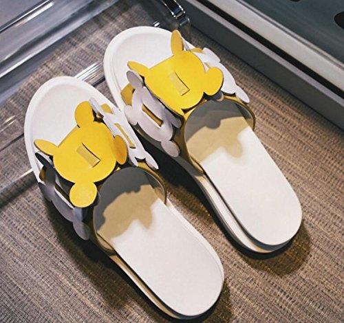 Studenti universitari CASUAL OL Party SLIPPERS Tomaia in pelle con suola soletta antiscivolo Passeggero leggero Passeggero Scarpe di sicurezza UE Taglia 34-40 Yellow