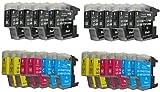 20 xl Druckerpatronen Brother LC1220 LC1240 für Brother MFC 430 625 825 6510 6710 6910 MFC-j430W MFC-J625DW MFC-J825DW MFC-J6510DW MFC-J6710DW MFC-J6910DW / Brother DCP 525 725 925 DCP-J525W DCP-J725DW DCP-J925DW (kompatibel, sie bekommen 8 x schwarz 4 x blau 4 x rot 4 x gelb)