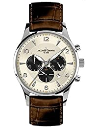 Jacques Lemans Herren-Armbanduhr XL London Chronograph Quarz Leder 1-1654E