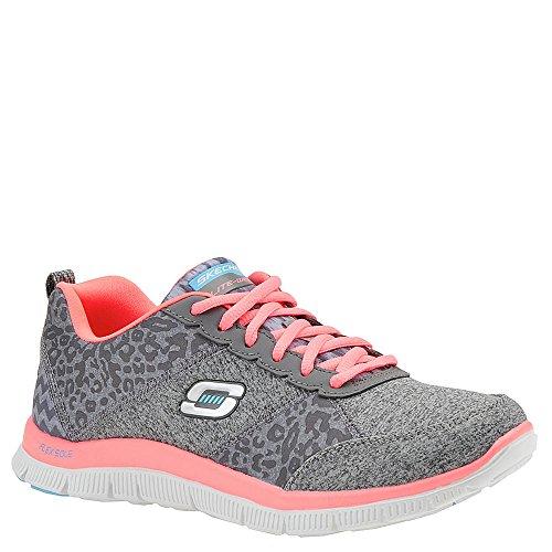 Skechers Flex AppealTribeca, Sneakers basses femme Gris