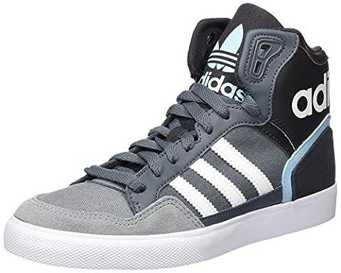 adidas Damen Extaball High-Top, Grau (Onix/Ftwr White/Blush Blue), 38 EU
